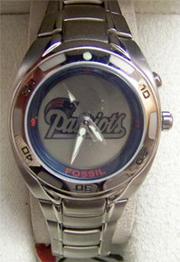 New England Patriots Fossil Watch Womens Flashing Logo Kaleido