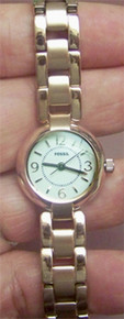 Fossil Rose Gold Tone Womens Three Hand Watch ES2742