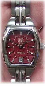FSU Florida State Seminoles Womens Fossil Three Hand Date watch Li3013