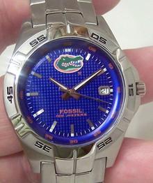 Florida Gators Fossil Three Hand Date Watch Men's Li2757
