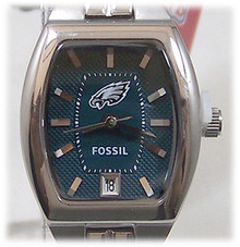 Philadelphia Eagles Fossil Watch Womens 3 Hand Date Wristwatch NFL1189