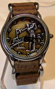 Fossil Golfer Watch Vintage Golf theme mens wristwatch