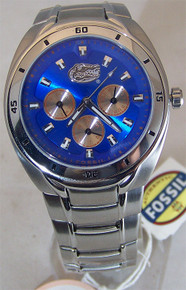 Florida Gators Fossil Watch Mens Multifunction Wristwatch Li2443