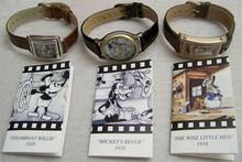 Disney Classic Films Fossil Watch set Mickey Steamboat, Goofy, Donald