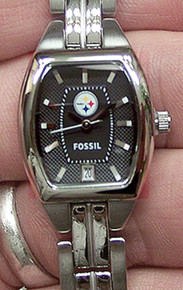 Pittsburgh Steelers Fossil Womens Three hand date  Watch NFL1204