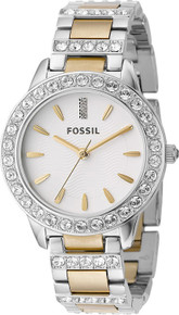 Fossil Ladies Watch Two tone Glitz Fashion Watch ES2409