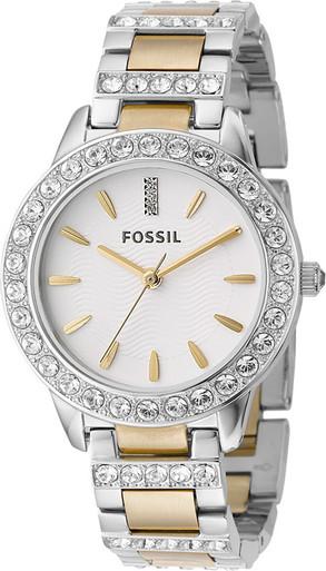 fossil two tone glitz fashion es2409
