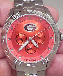 Georgia Bulldogs Watch Fossil Mens Multifunction Wristwatch LI2779