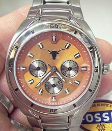 Texas Longhorns Fossil Multifunction Watch Mens Li2382 NEW