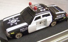 Fossil Relic Police Car Desk Clock. Vintage Novelty LE Collectible