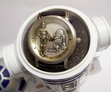 Star Wars Fossil R2d2 And C3po Watch Lmt Ed Wristwatch In