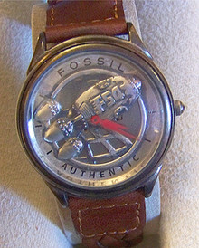 Captain Fossil Rocket Watch Vintage Collectible Wristwatch