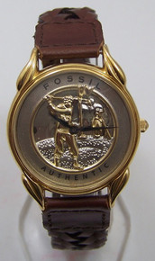 Fossil Golfer Watch Vintage Golf theme mens wristwatch LE-9431