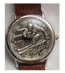 Fossil Skier Watch Vintage Ski theme mens wristwatch LE-9454
