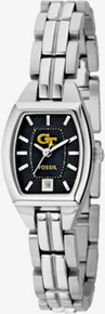 Georgia Tech Yellow Jackets Fossil 3 hand Womens logo watch Li3015
