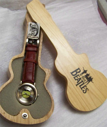 The Beatles Apple Corp Watch in Wooden Guitar display case B00103