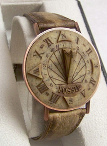 Fossil Sundial Watch Vintage SD-1 Sun Dial Wristwatch Novelty