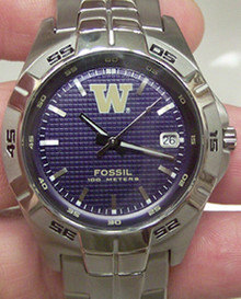 Washington Huskies Fossil Men's Three Hand Date Watch Li2970