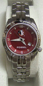 FSU Florida State Fossil Watch Womens Sport Wristwatch LI2927