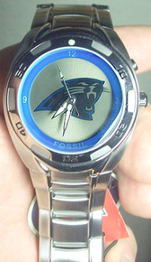Carolina Panthers Fossil Flashing Logo Kaleido Watch NFL1019