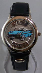 57 Chevy Watch. Fossil Relic 1957 Chevrolet Car Wristwatch ZR-94701