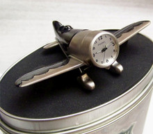 Fossil Air Plane Desk Clock. Vintage Novelty LE Collectible ML2083