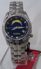 San Diego Chargers Fossil Womens Sports Watch Ladies Wristwatch