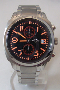 Callaway Golf Watch Mens Chronograph Orange On Black CY2145