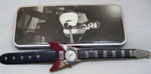 Elvis Presley Guitar Shaped Watch Novelty Red Guitar Wristwatch