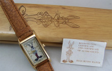 Bugs Bunny Watch Bugs as Referee Wristwatch in Hard Wood Box