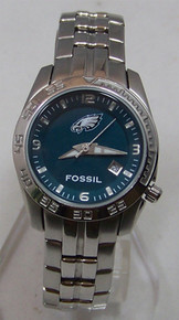 Philadelphia Eagles Fossil Watch Womens Sport Wristwatch with Date