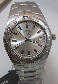 Callaway Golf Watch Mens Three Hand Date Silver Wristwatch CY2112