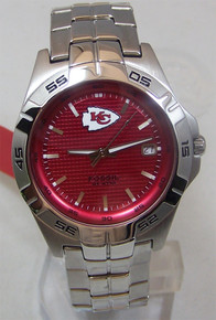 Kansas City Chiefs Watch Fossil Mens Three Hand Date Wristwatch