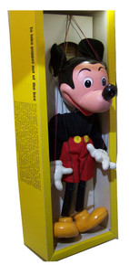 Mickey Mouse Pelham Puppet Early 60s Marionette New in Box