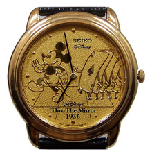 Mickey Mouse Watch Through the Mirror Marching Cards Seiko Mens Lmt E