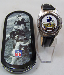 Minnesota Vikings Fossil Watch Vintage 1995 Mens Collectors Wristwatch