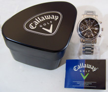 Callaway Watch Mens Chronograph Black Dial Wristwatch SSBand CY2019