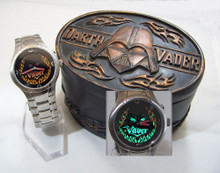 Fossil Darth Vader Light Up Flames Watch Silver Star Wars Li2546