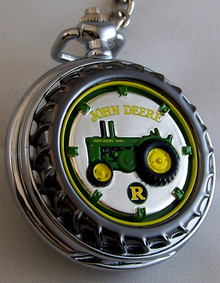 John Deere Franklin Mint Pocket Watch Model R Tractor LE, New