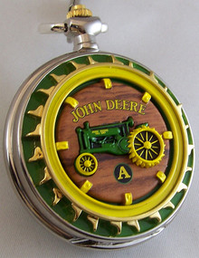John Deere Franklin Mint Pocket Watch Model A Tractor LE, New