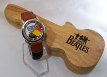 The Beatles Watch Germany World Tour Wristwatch in Wood Guitar Case