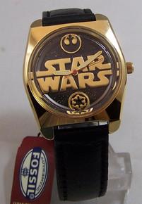 Star Wars Death Star Fossil Watch Set Gold LE with lapel pin Li-1569