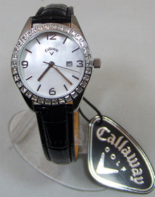 Callaway Golf Womens Watch Mother of Pearl Dial on Leather Band CY2165