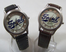 Fossil Baseball Watch Vintage Novelty Domed Crystal Mens Wristwatch