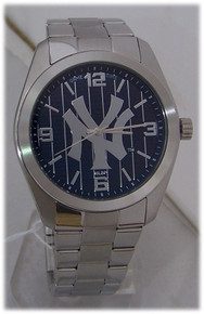 NY New York Yankees Watch Game Time Mens Elite Pinstripes Wristwatch