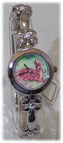 Bambi Watch Disney Collectible Wristwatch in Ceramic Art Potpourri Box
