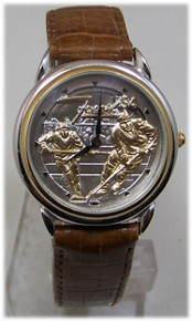 Fossil Hockey Players Watch Vintage Collectible Novelty Wristwatch