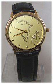 Beauty and The Beast Watch Broadway Musical Gold Tone LE Wristwatch