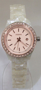 Fossil Womens watch Stella Pearlized Rose Gold Tone wristwatch ES2864