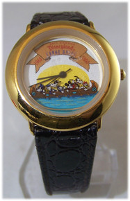 Disney Mickey Mouse Watch 30th Disneyland Canoe Race Rare Lmt Ed